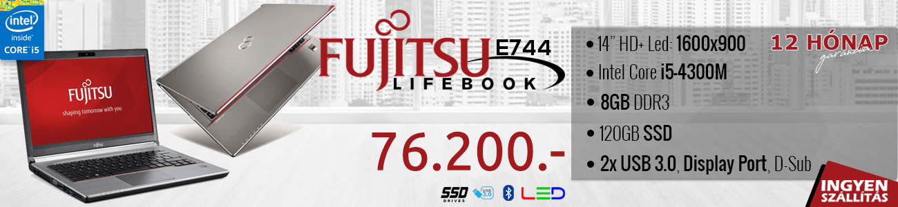 Fujitsu Lifebook E744 kisker