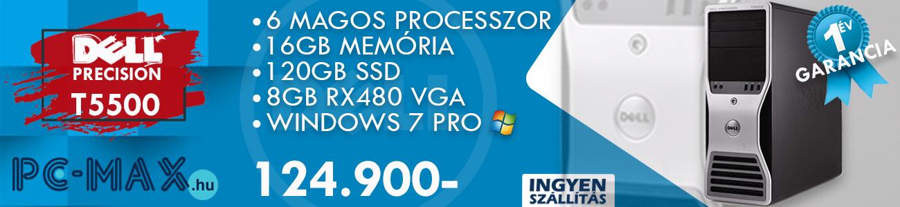 Dell Precision T5500 RX480 - javított