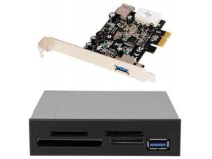 USB 3.0 kártyaolvasó + PCIe