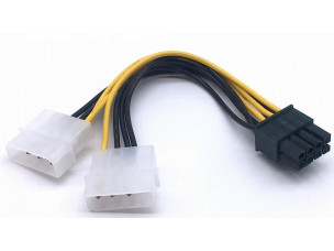 PCIe 8 PIN - 2 x Molex (új)